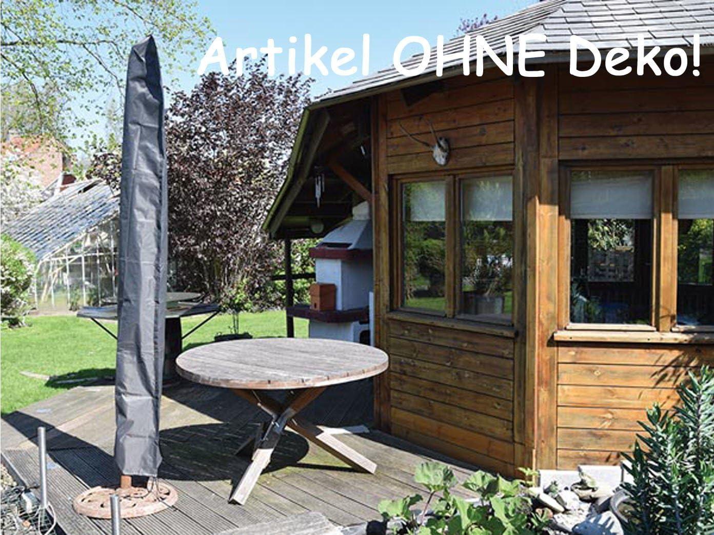 Anthrazit 64 x 64 x 250 cm Perel Garden OCP-L Schutzh/ülle F/ür Schirm Maximum Durchmesser 450 cm