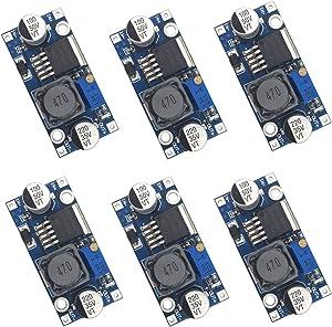 Valefod 6 Pack LM2596 DC to DC High Efficiency Voltage Regulator 3.0-40V to 1.5-35V Buck Converter DIY Power Supply Step Down Module