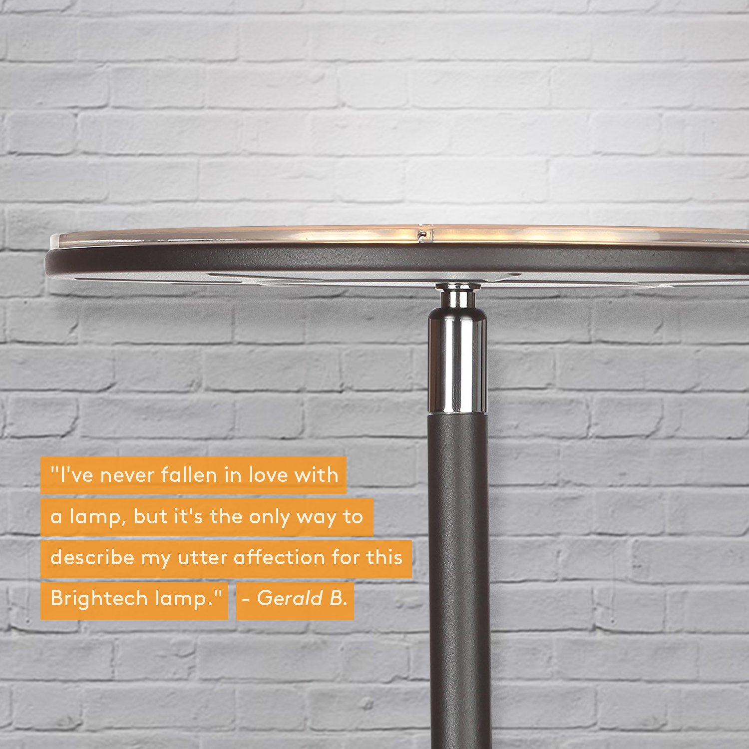 Brightech Sky LED Torchiere Super Bright Floor Lamp - Tall Standing Modern Pole Light for Living Rooms & Offices - Dimmable Uplight for Reading Books in Your Bedroom etc - Dark Bronze by Brightech (Image #3)