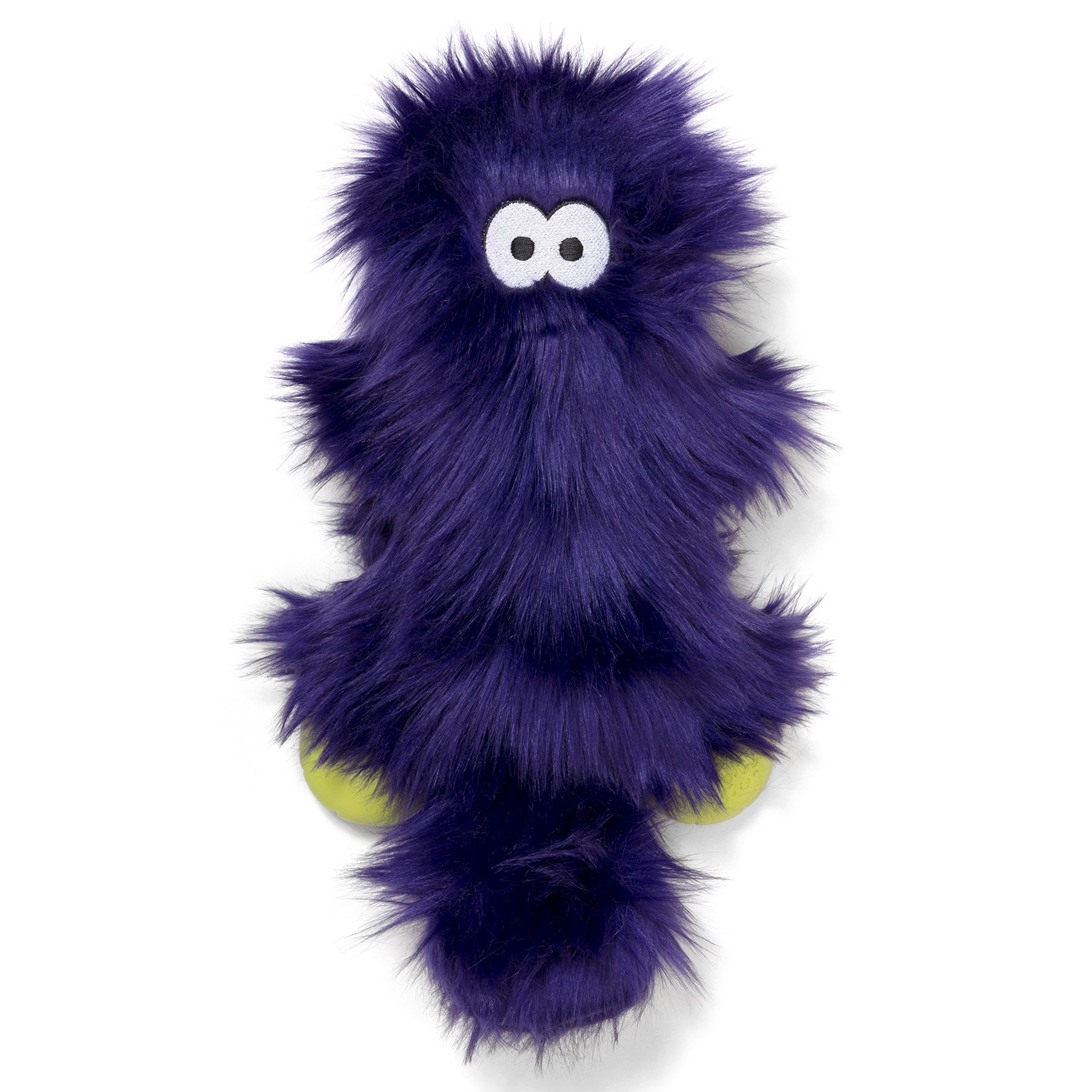 West Paw Rowdies with HardyTex and Zogoflex, Durable Plush Dog Toy for Medium to Large Dogs, Sanders, Purple Fur