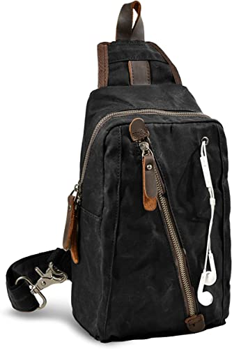 Fashion Mens Vintage Nylon Shoulder Messenger Travel Hiking Work Casual Small Ba