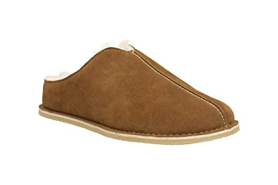 9eefc686a940e Clarks Men's Slip-On Slippers Kite Stitch Cola Suede: Amazon.co.uk ...