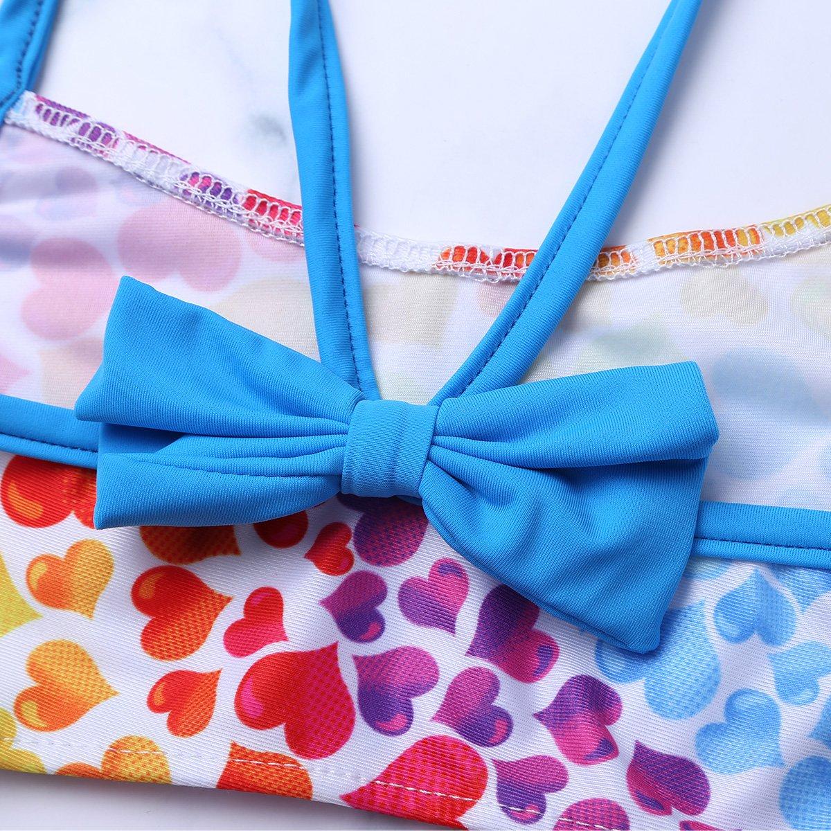 dPois Kids Big Girls Bowknot Back 2PCS Tankini Swimsuit Swimwear Summer Beach Bathing Suit