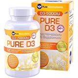 Pure Micronutrients Vitamin D3 5000 IU, Mini Softgels, Natural Vitamin D Supplement (Cholecalciferol). Best for Immune Support, Bone Health and Muscle Support, 120 Count