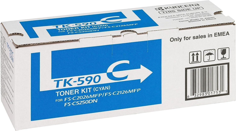 Kyocera 1t02kvcnl0 Tk 590c Tonerkartusche 5 000 Seiten Cyan Bürobedarf Schreibwaren