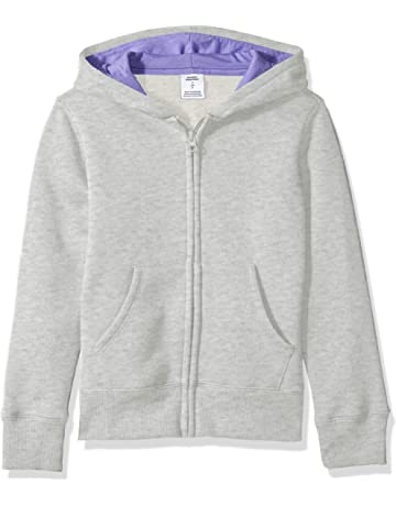 ebd3603000c670 Amazon Essentials Girls' Fleece Zip-up Hoodie