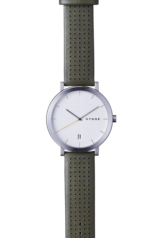 Hygge Unisex-Armbanduhr 2203 Analog Leder GrÜn MSL2203C(KA)