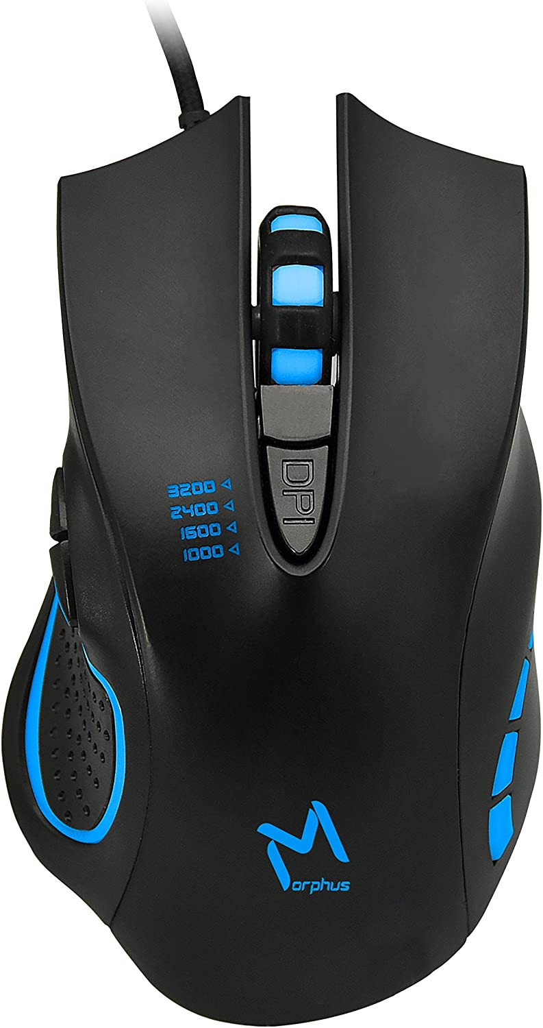 Gaming Mouse Wired, 4 Adjustable DPI Levels, 7 Circular & Breathing LED Light, AIKUN MORPHUS (GX53) Wired Mouse Used for Games and Office Laptop, PC, Mac