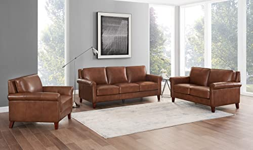 Hydeline Laguna 100 Leather Sofa Couch Set Sofa