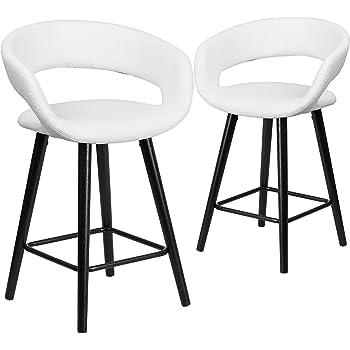 Amazon Com Flash Furniture 2 Pk Kelsey Series 24 High