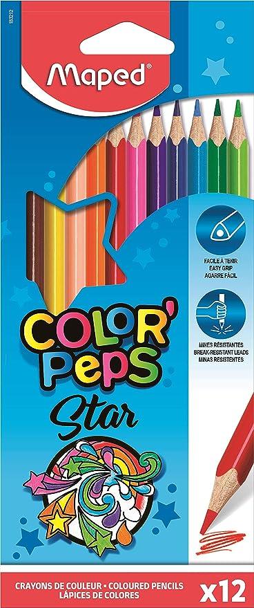Maped ColorPeps - Pack de 12 lápices de colores: Amazon.es ...