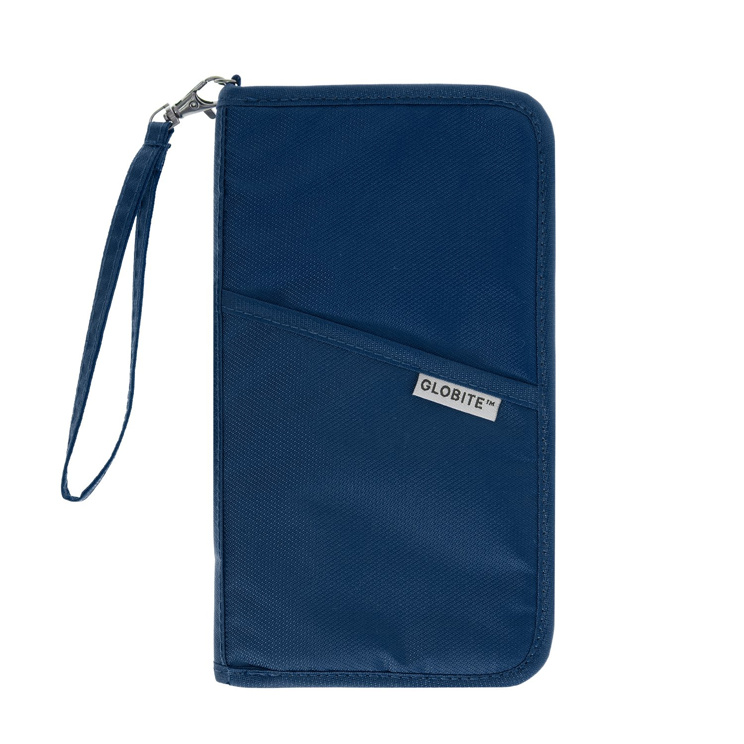 RFID Travel Wallet, Security for Your Passport, Credit Cards, IDs (Blue) by Globite Australia