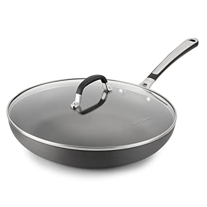 Simply Calphalon 12-Inch Nonstick Omelet Fry Pan with Lid