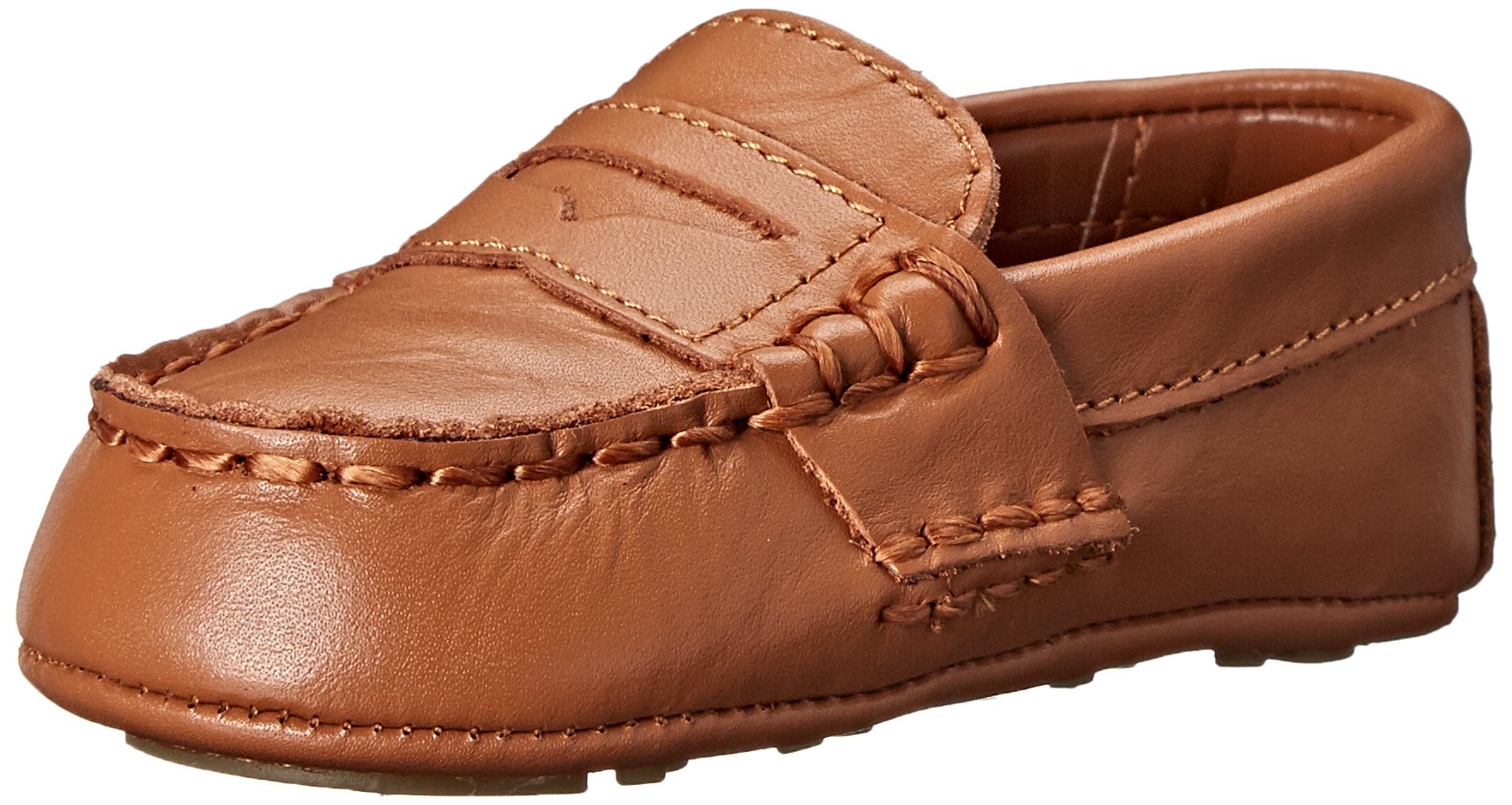 Ralph Lauren Layette Telly Loafer (Infant/Infant), Tan, 2 M US Infant by Polo Ralph Lauren