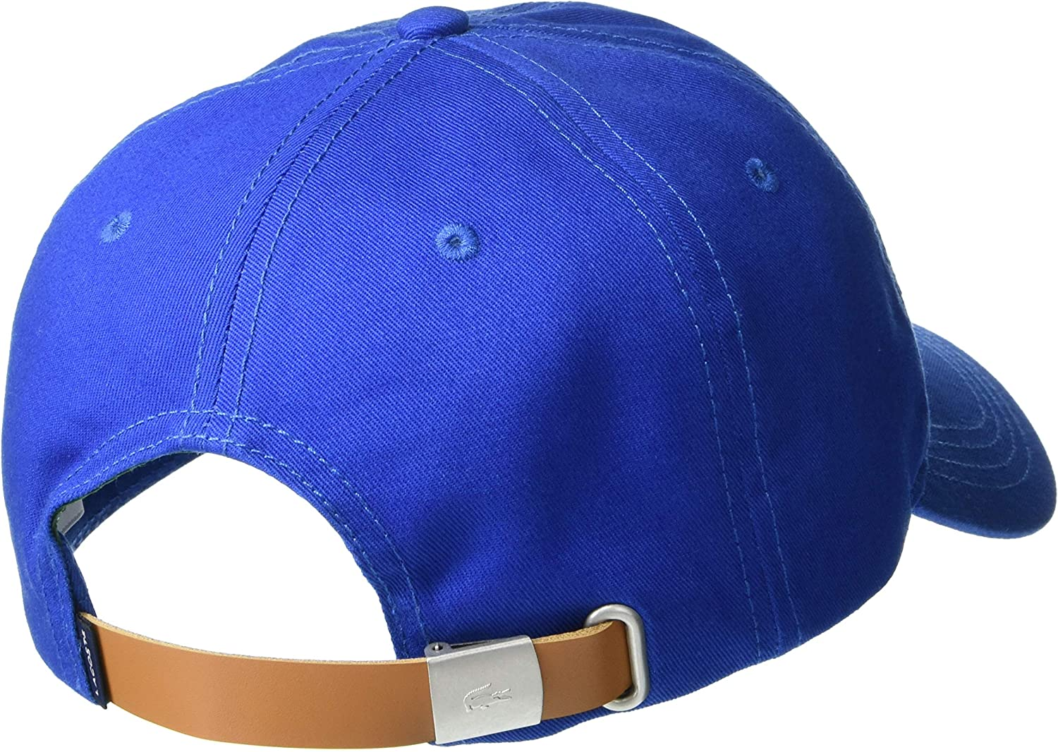 Lacoste Mens Big Croc Twill Adjustable Leather Strap Hat
