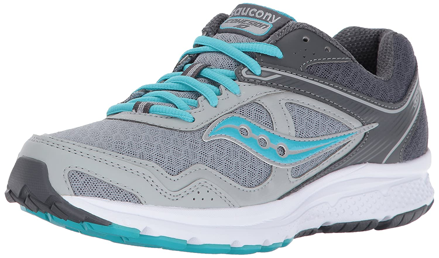 Saucony Women's Cohesion 10 Running Shoe B01N1W2ZAD 8 B(M) US|Grey Blue