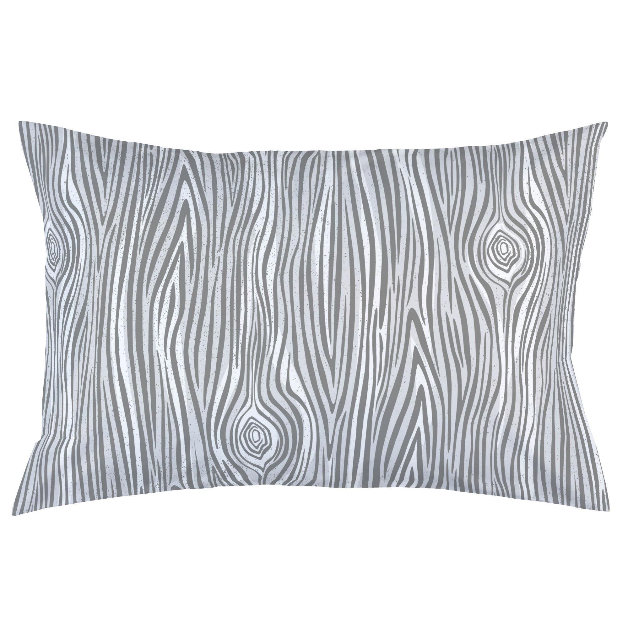 Carousel Designs Gray Large Woodgrain Pillow Case - Organic 100% Cotton Pillow Case - Made in the USA