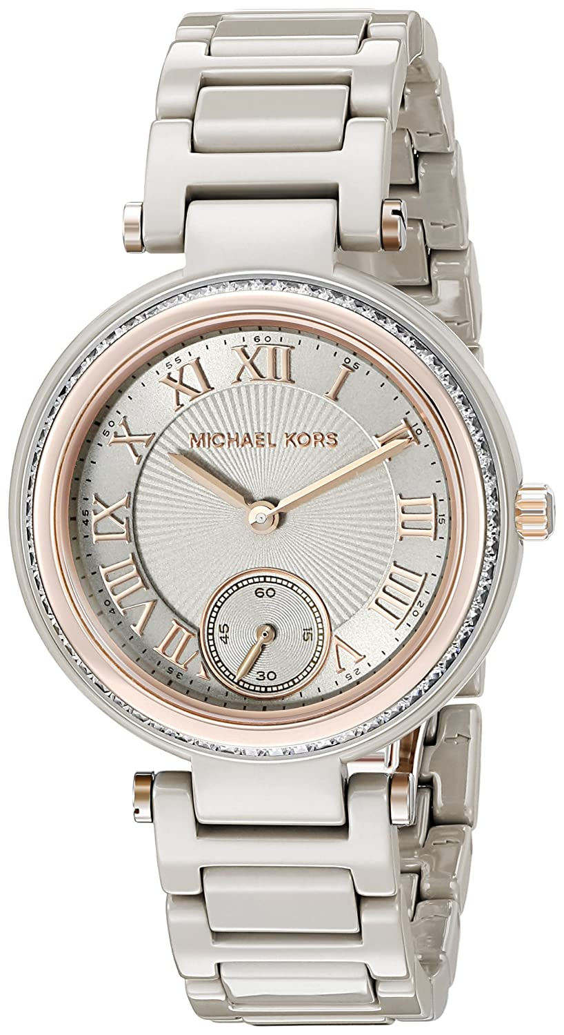 dfa4a11cfe51 Amazon.com  Michael Kors Women s Mini Skylar Grey Watch MK6241  Watches