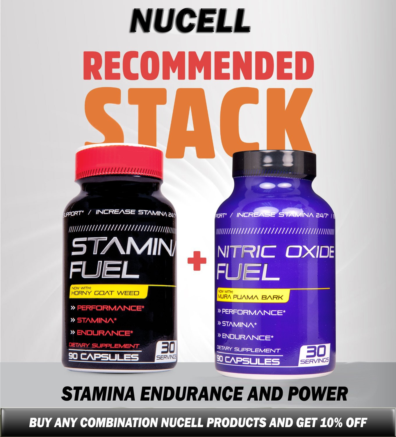 Nitric Oxide Fuel N.1 Effective Booster increase Energy, Stamina, Size, Physical Performance Extra Natural boost formula now with Muira Puama Increase Performance 90 Caps by Nucell (Image #5)