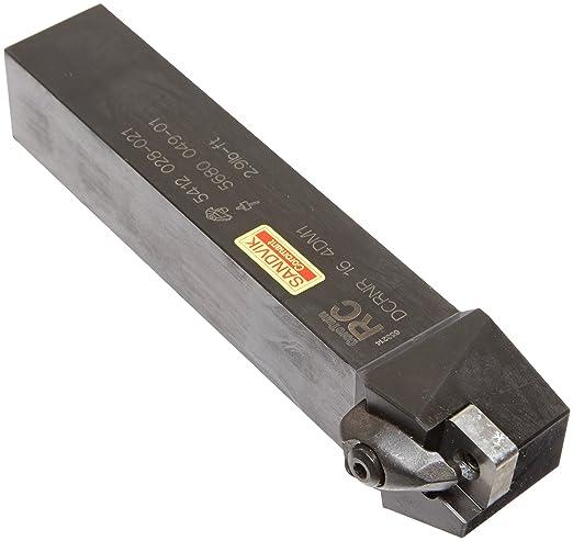 75 Degree Entering Angle Right Hand External Steel Sandvik Coromant DCKNR 16 4D Turning Insert Holder Rigid Clamp CNMG 432 Insert Size 1 Width x 1 Height Shank 6 Length x 1.25 Width Square Shank