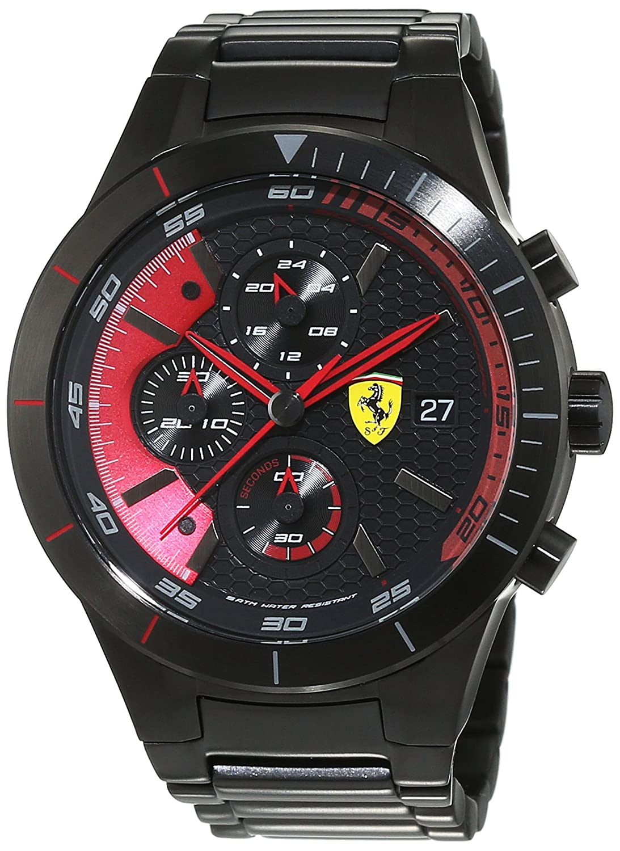 Scuderia Ferrari Orologi Herren-Armbanduhr Red Rev Evo Analog Quarz Edelstahl beschichtet 0830264
