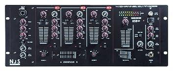 Mesa de mezclas DJ 4 canales con entrada USB: Amazon.es ...