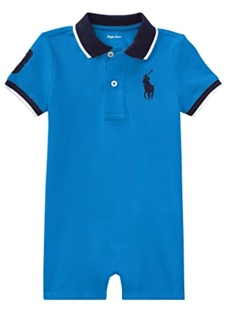 e51a36a15a Amazon.com: RALPH LAUREN Baby Boy Cotton Mesh Polo Shortall (9 ...