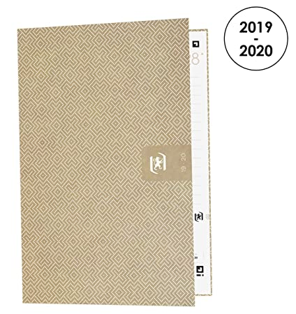 Amazon.com : Oxford Nude Kraft Daily School Diary 2019-2020 ...
