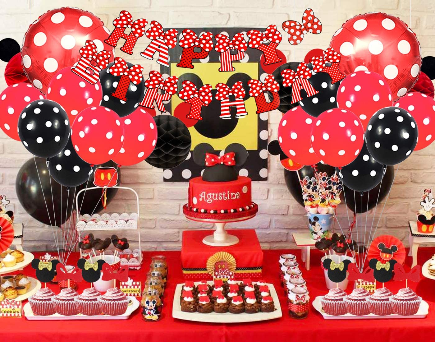 Amazon.com: Kreatwow Mickey y Minnie suministros de fiesta ...