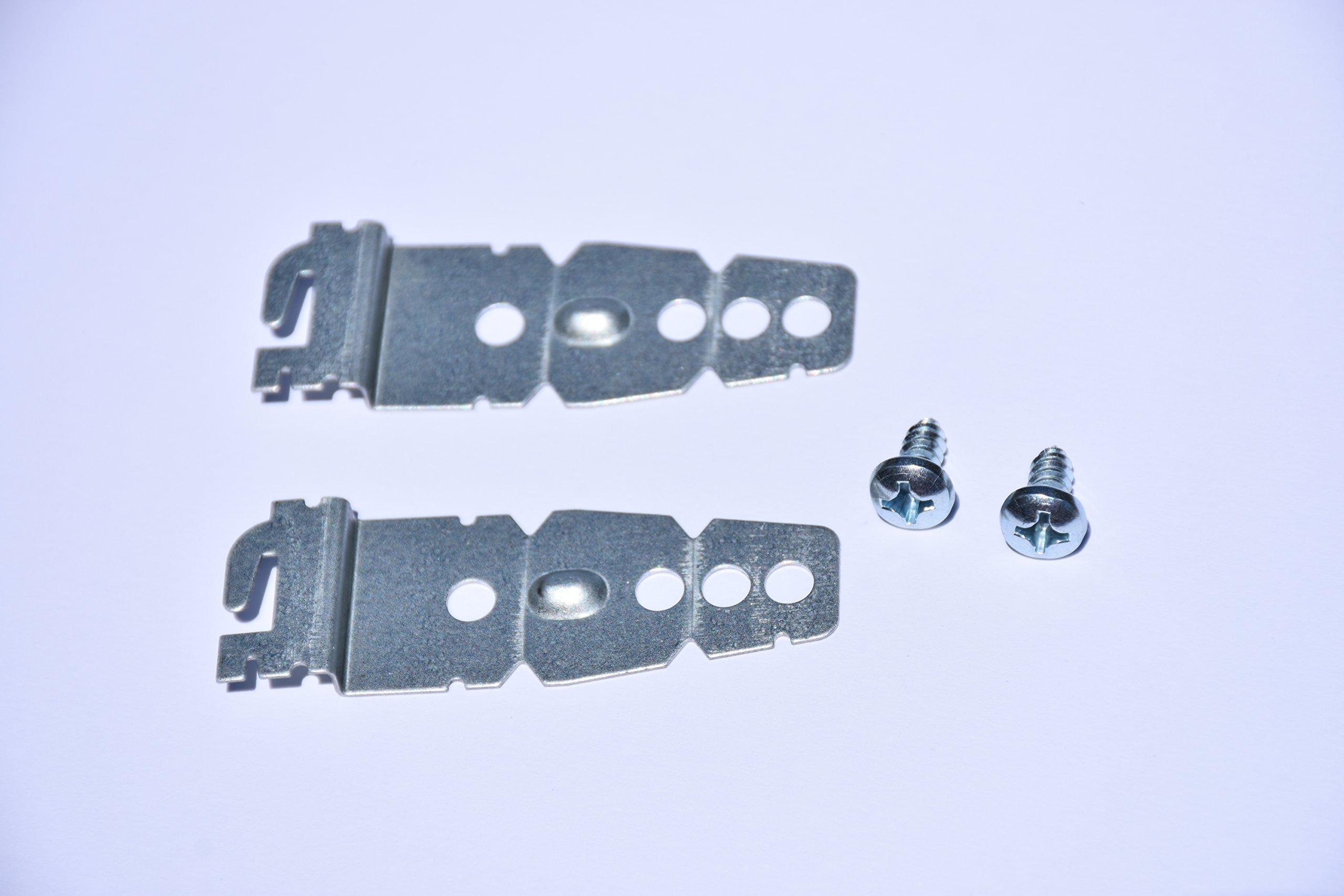 2-Pack Dishwasher Mounting Bracket w/screws | Universal Brackets for Kenmore Kitchenaid Frigidaire, Maytag, LG, Bosch Dishwashers | Under-Counter Mounting Bracket | Compare to parts 8269145/WP82691