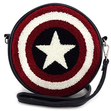 Amazon.com: Loungefly escudo de Capitán American Crossbody ...