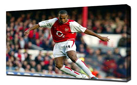 detailed look 5f5e4 fb9d0 Amazon.com: Arsenal Thierry Henry 1 - Canvas Art Print ...