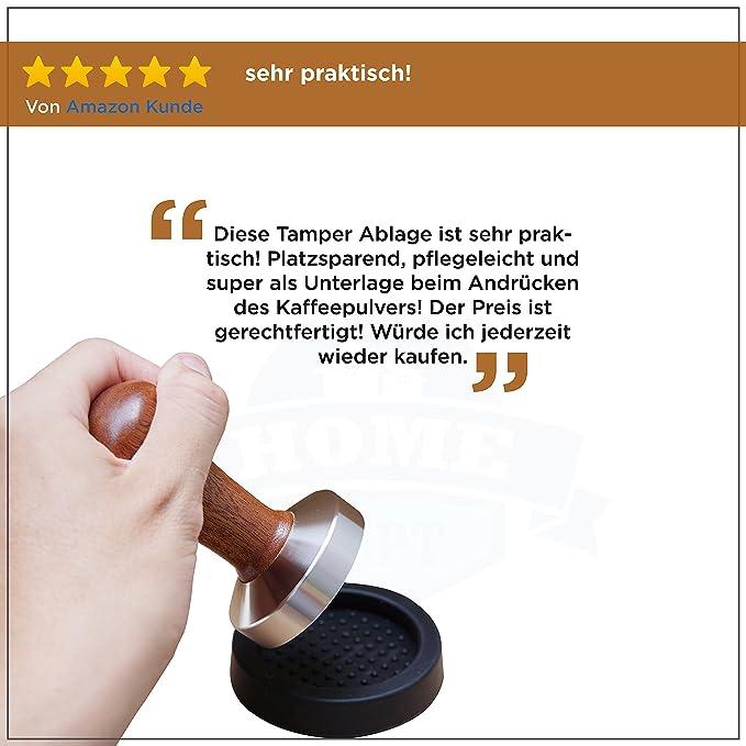 Base silicona para prensador de café y apoyo para el porta filtro. Perfecto para moler café expreso con el filtro. Accesorio ideal para baristas.