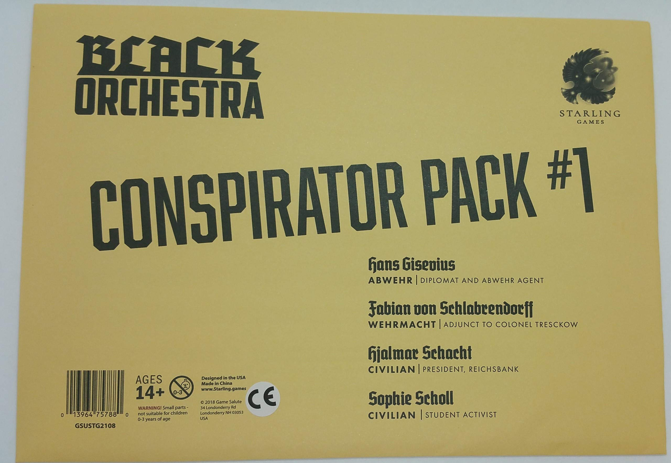 Black Orchestra Conspirator Pack 1