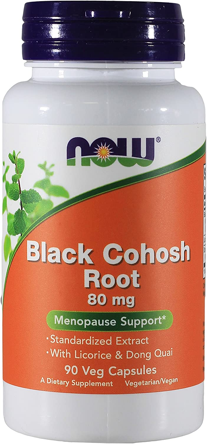 Now Foods Black Cohosh Root 80 mg – 90 VegiCaps 4 Pack