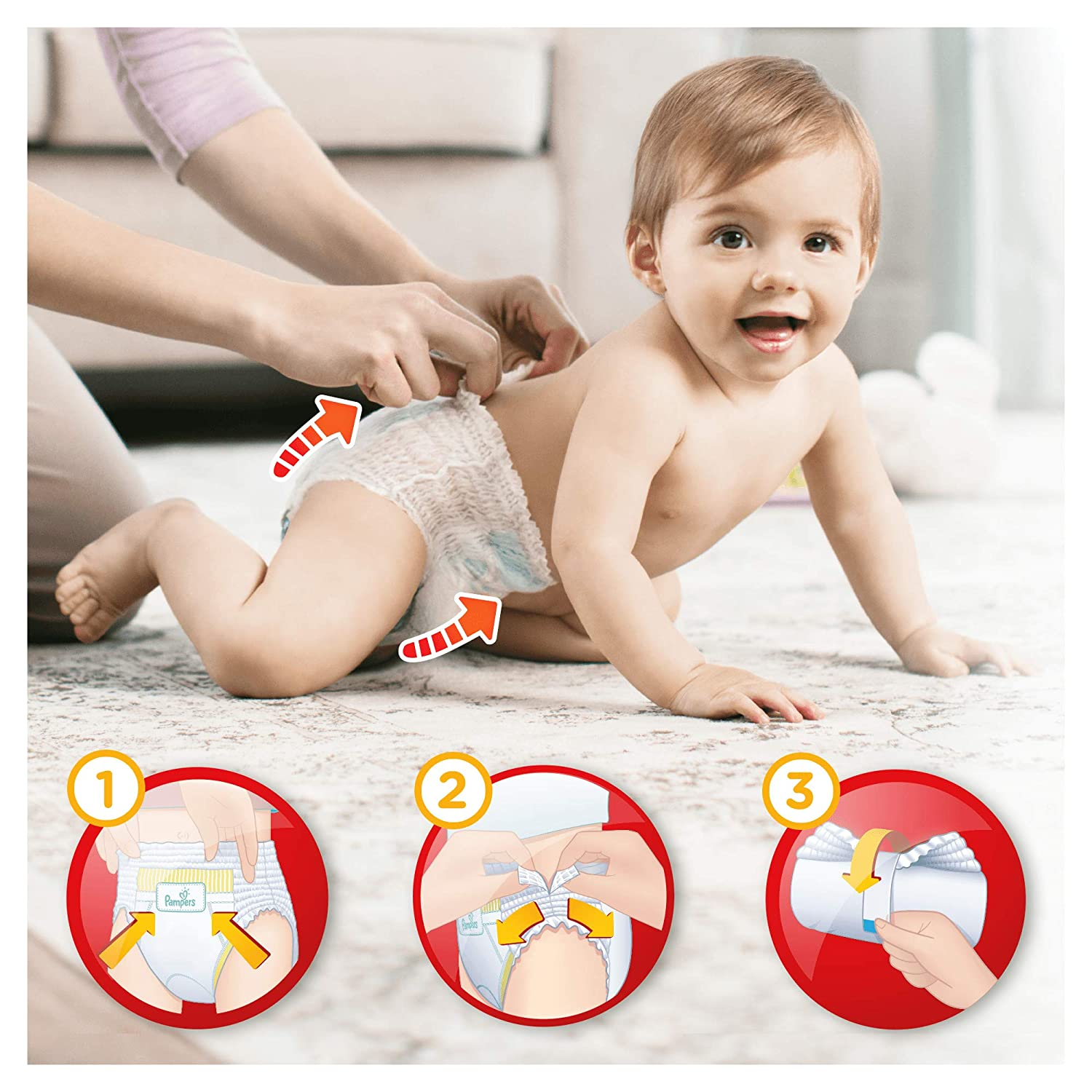 9-15 kg Baby Dry Pants x160 culottes Couches-culottes Taille 4 - Pack 1 mois Pampers