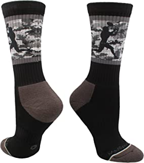 product image for MadSportsStuff Football Socks with Player on Camo Athletic Crew Socks (Multiple Colors)