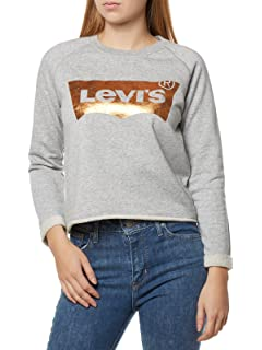 Levi's Raw White Cut Graphic 5634000050l Donna Felpa Crew PXikZu