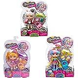 Shopkins shoppies 3 Dolls SARA SUSHI + RAINBOW KATE + PAM CAKE