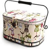 Dritz St. Jane Sewing Basket, Large Oval (metal handle)