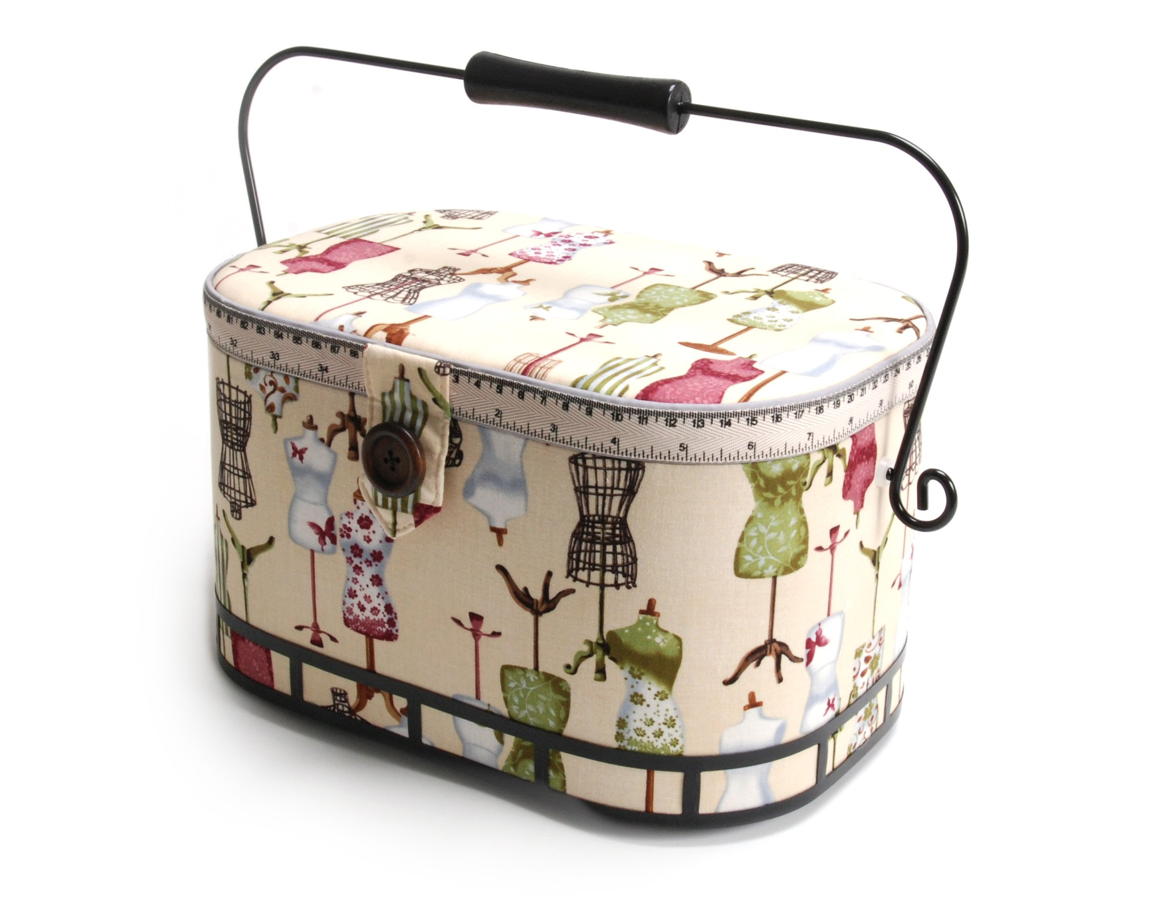 Dritz St. Jane Sewing Basket, Large Oval (metal handle) by Dritz St. Jane