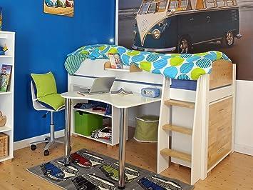 Cucina Per Bambini In Legno : Urban mid sleeper letto per bambini in legno colore bianco