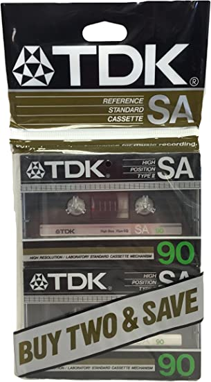 2 TDK SA 90 IEC II Type II High Position Blank Cassette Tape Sealed Free Ship