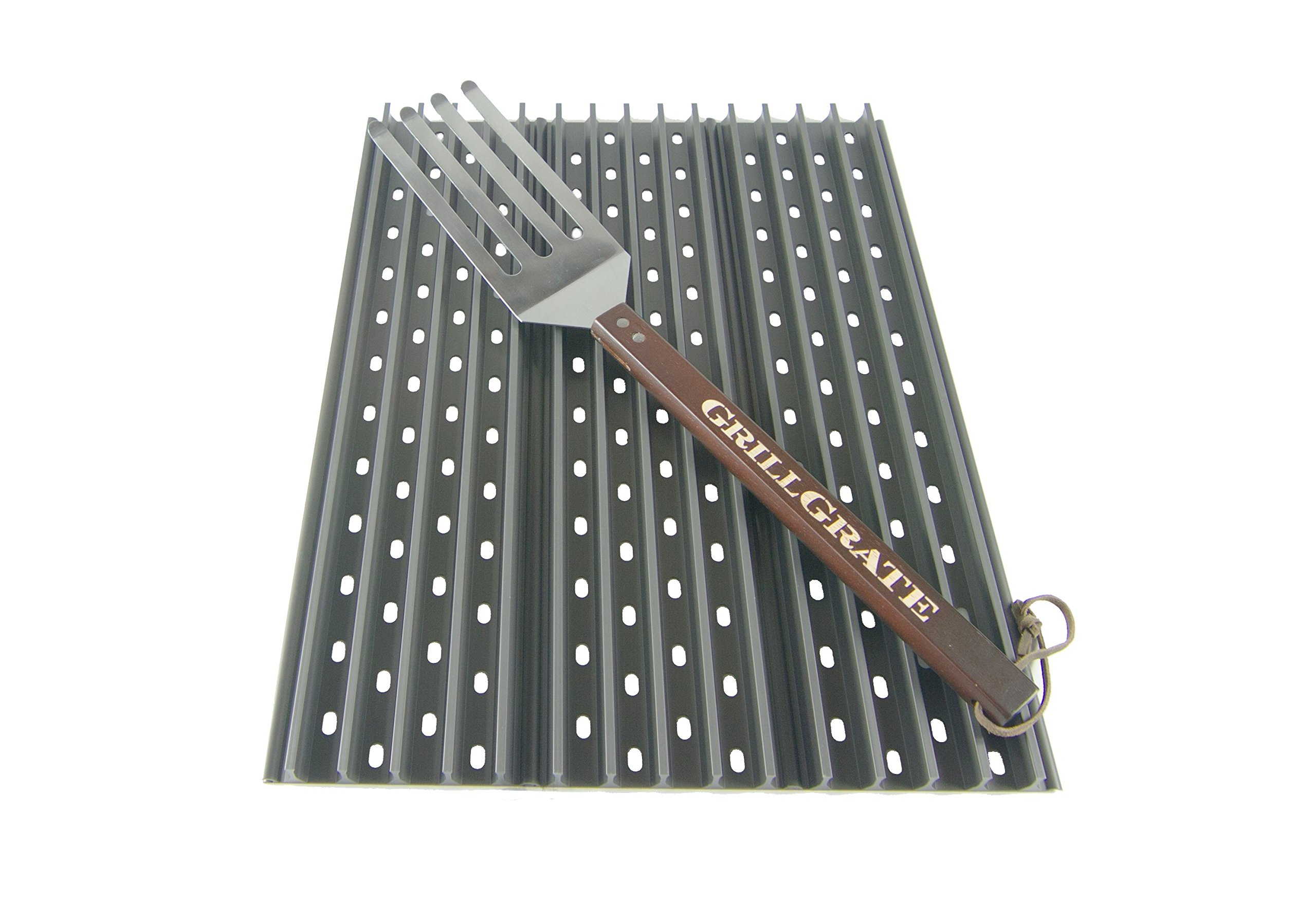 19.25'' Grill Grate Sear Stations for Pellet Grills (SS19.25) by GRILL GRATE BRAND THE ORIGINAL RAISED RAIL DESIGN GET FIRED UP · WWW.GRILLGRATE.COM