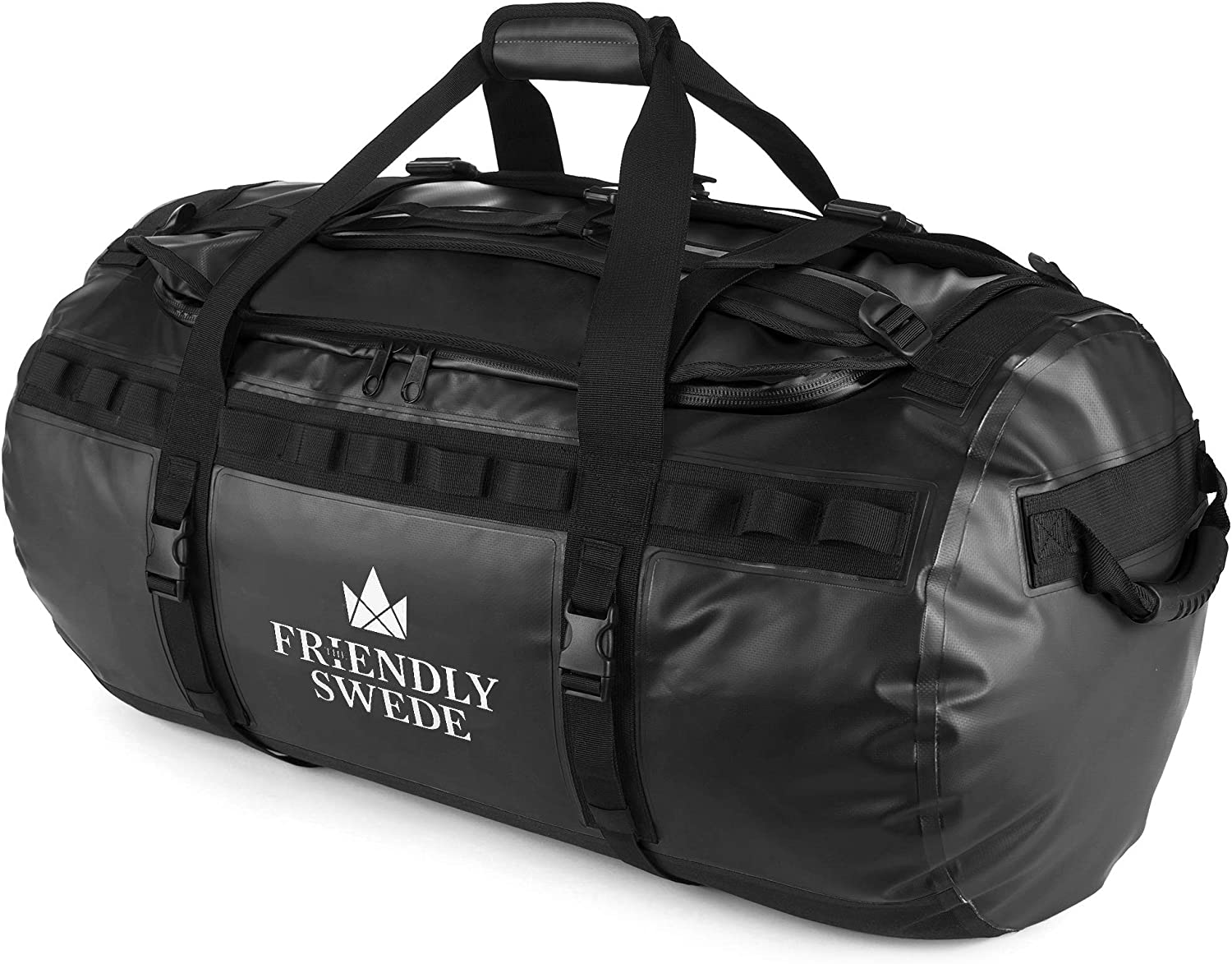 The Friendly Swede Duffel bag with Backpack Straps for Gym, Travel and Sports – SANDHAMN Duffle Waterproof Material