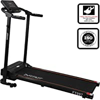 Fitkit FT097 Steel 1 HP (Peak Motor Power: 1.5HP) Motorized Treadmill (Black) -with Free Installation Service