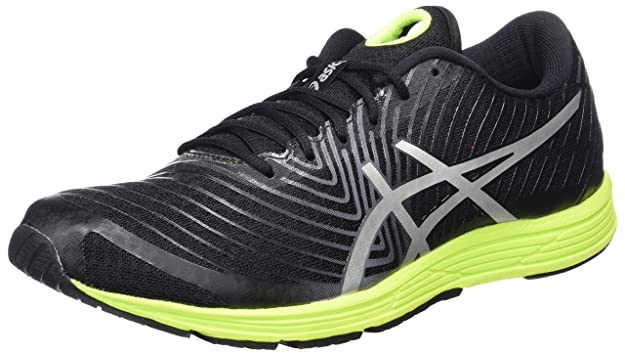 Asics Hyper Tri 3, Chaussures de Running Homme, Noir (Black/Silver/Safety Yellow), 44 EU