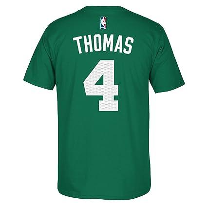 Adidas Boston Celtics isaías Thomas NBA Hombres Reproductor t Camisa Verde, Verde