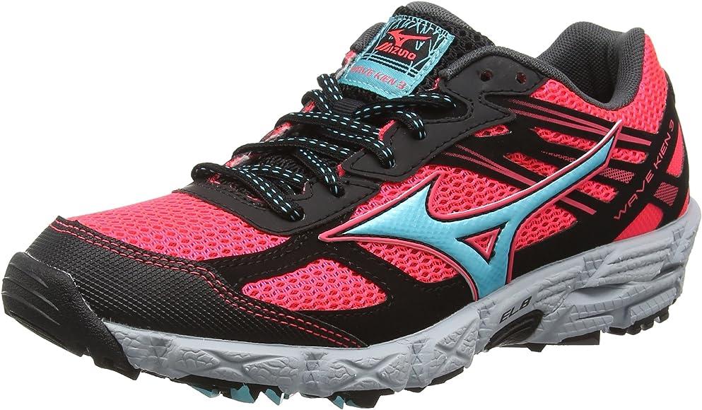 Mizuno Wave Kien 3 Zapatillas de running Mujer, Rosa (Fiery Coral/Capri/Black), 38: Amazon.es: Zapatos y complementos