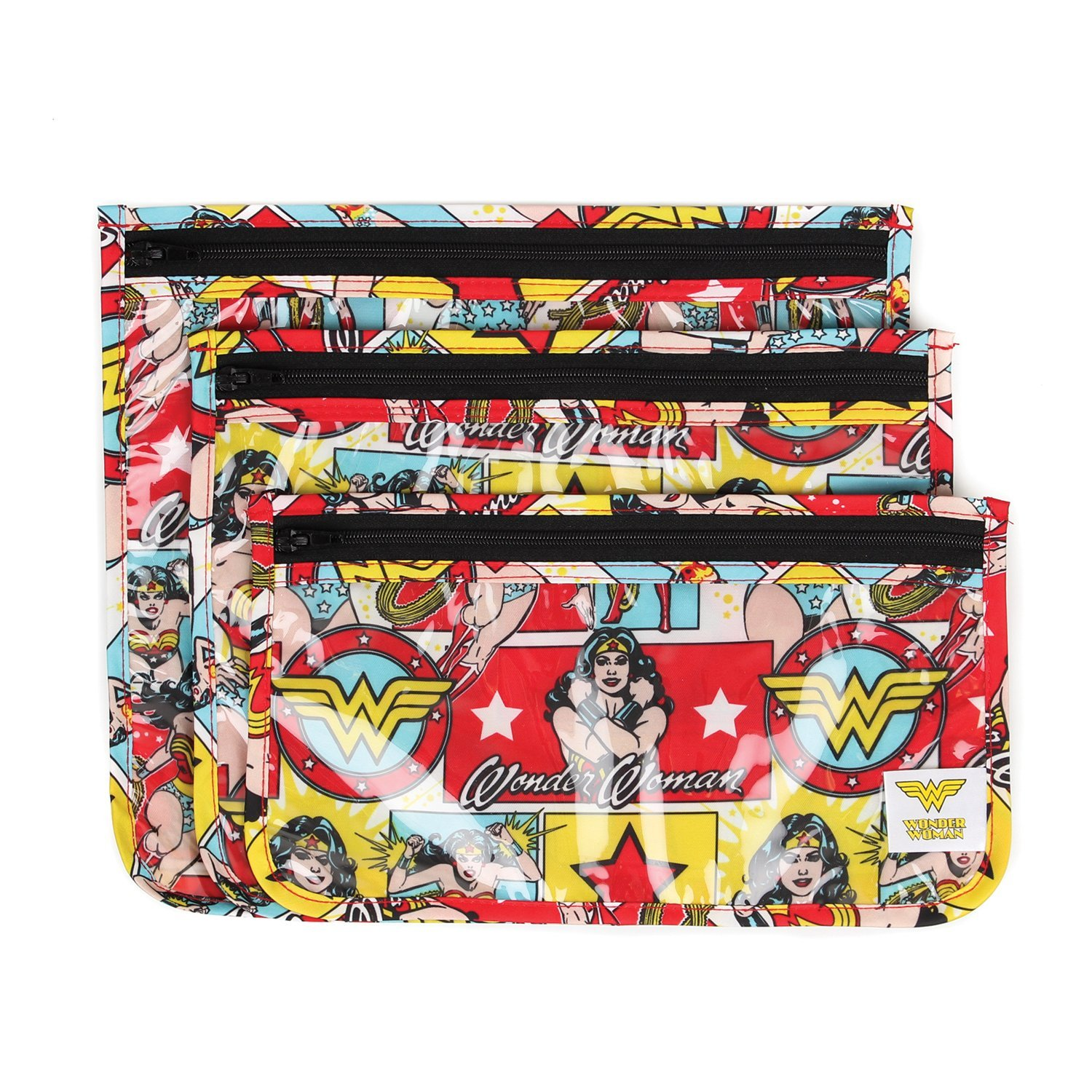 Bumkins Clear Travel Bags, Wonder Woman